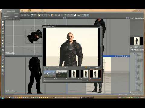 Tutorial1 Importing Poser Character into Vue and Depth of Field