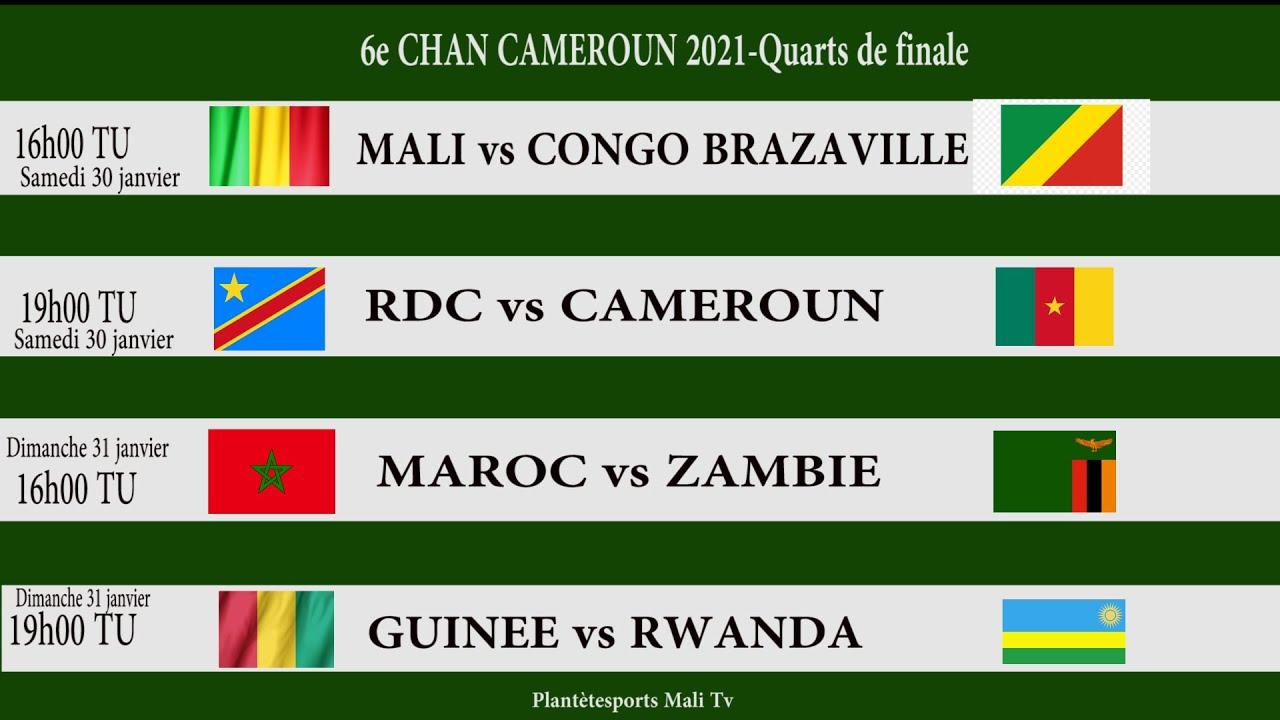 Voici le tableau complet des quarts de finale CHAN Cameroun 2021