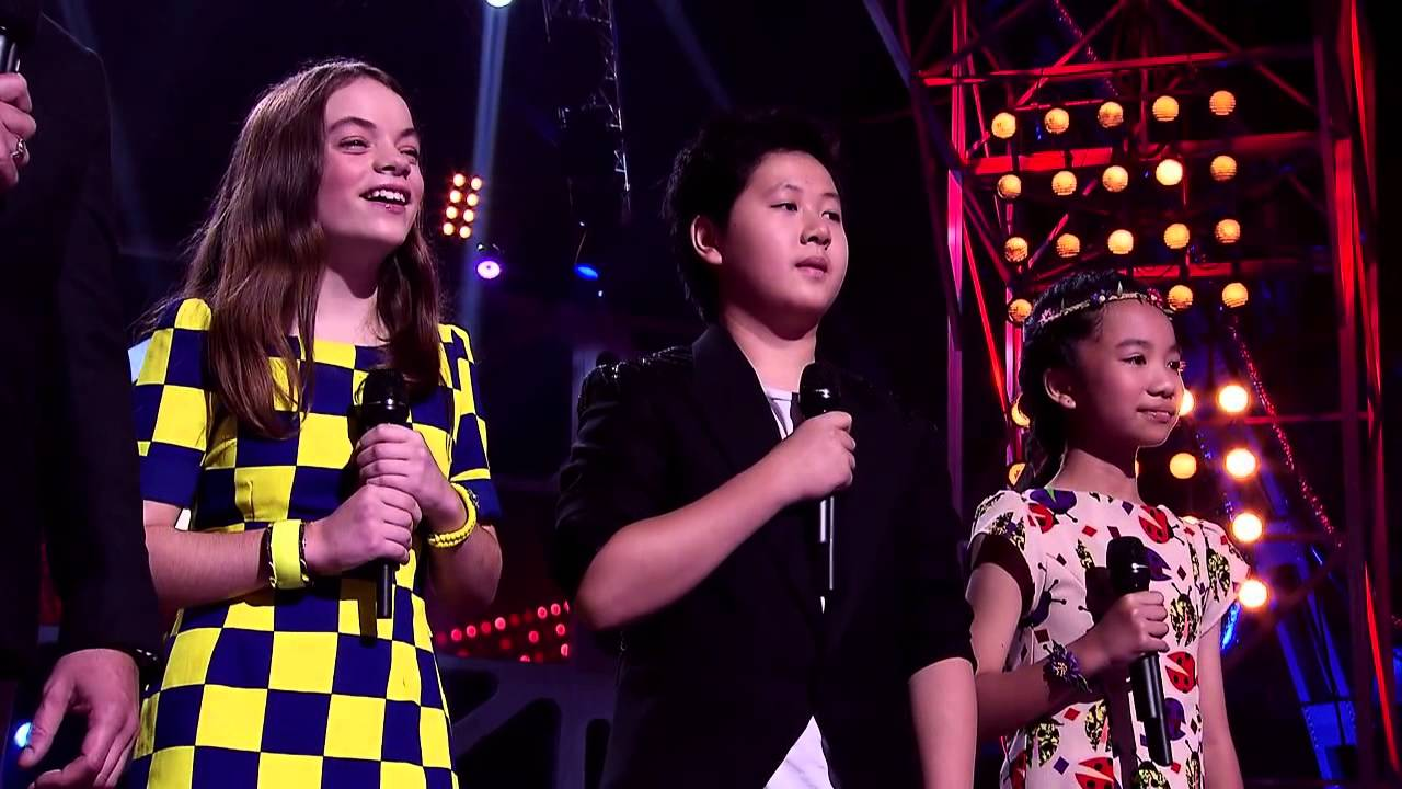 Harmony, Shuan and Mira Sing Somewhere Out There | The Voice Kids Australia 2014