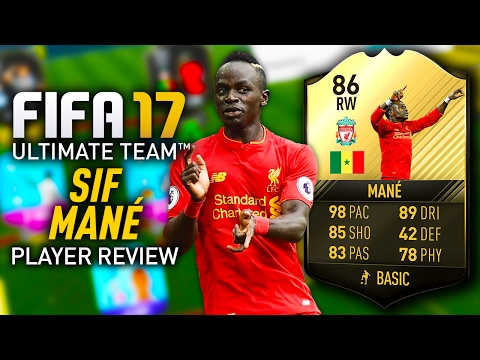 FIFA 17 SIF MANÉ (86) *98 PACE* PLAYER REVIEW! FIFA 17 ULTIMATE TEAM!