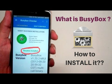 What Is BusyBox ? How To INSTALL  BusyBox On Any  Android Device (ROOT) 2017 Latest