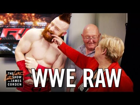 Thumbnail: James Corden's Parents Invade WWE's Monday Night Raw