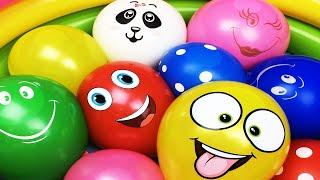 Воздушные шарики с водой Учим цвета для детей Развивающее видео Песня Семья пальчиков Лопаем шарики