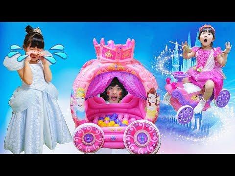ディズニープリンセス魔法ごっこ遊び!シンデレラが王子様に会える?あわてんぼうの妖精おままごと Playhouse Disney princess Cinderella magical fairy