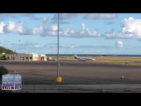 Military Planes Arrive At Bermuda's Airport, Jan 17 2019