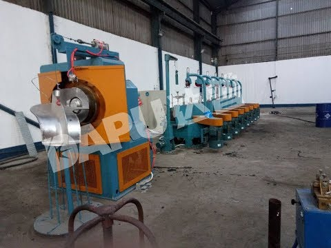 Pulley Wire drawing machine and Trunk take up machine sold to Uganda
