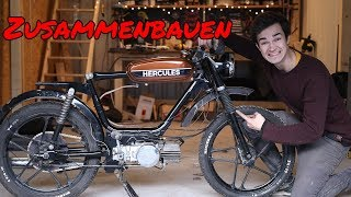 How to build together the moped coffee racer! | F.03 Moped Wednesday