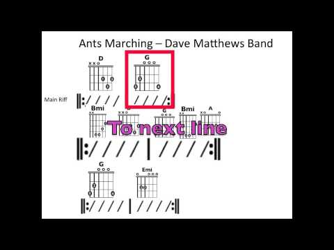 Ants Marching - Moving chord chart - YouTube