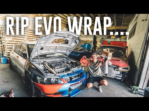 I CAN'T BELIEVE WE DID THIS.. UNWRAPPING MY EVO 8