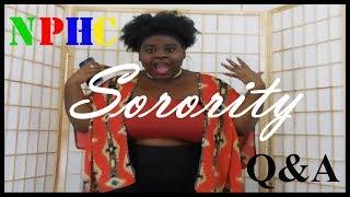 NPHC Sorority Q&A