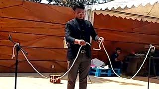 Super walking knot magic trick, sulap aneh simpul tali berjalan (DANI SENNA)