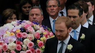 Quatre anciens présidents américains aux funérailles de Barbara Bush