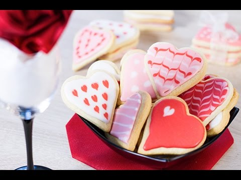 d coration biscuits coeurs st valentin f te des m res youtube. Black Bedroom Furniture Sets. Home Design Ideas