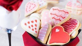 Décoration biscuits coeurs St Valentin, Fête des mères...