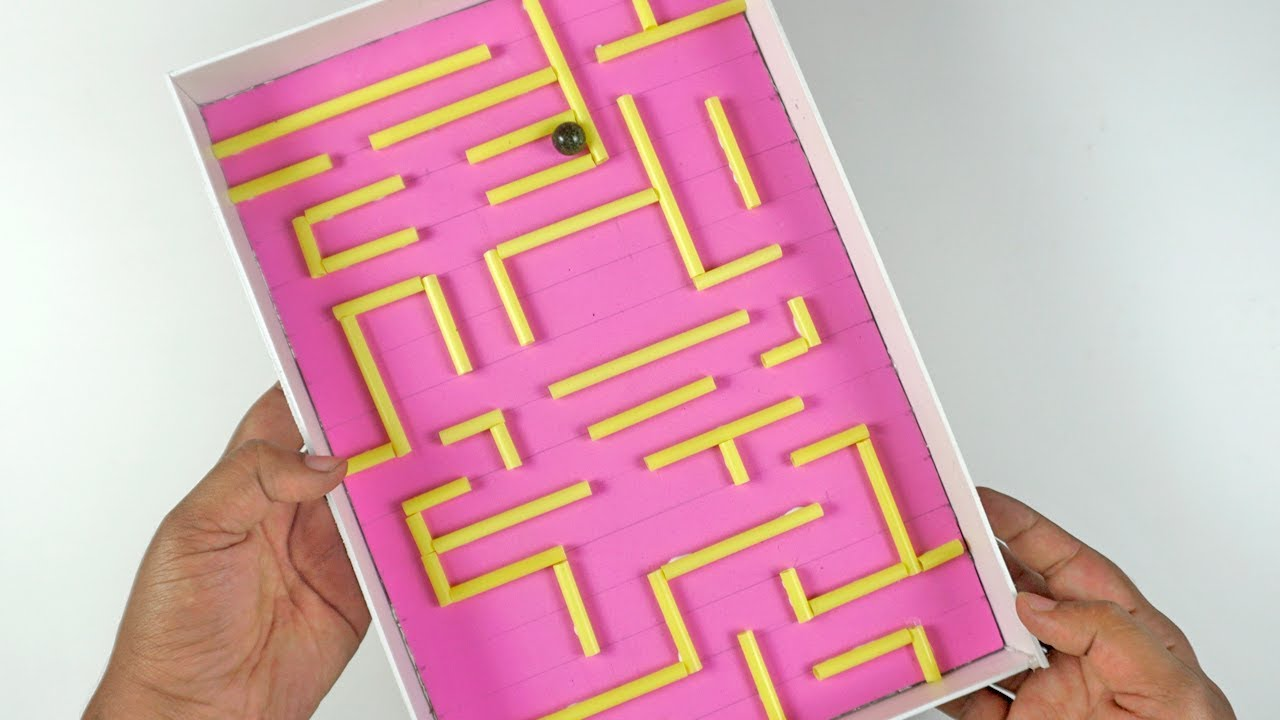 How To Make Marble Maze At Home Clever Toy For Kids
