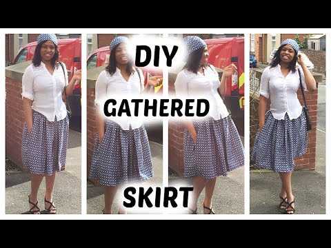 DIY:GATHERED MIDI SKIRT+POCKETS TUTORIAL /ANKARA