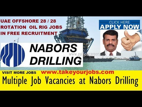 UAE OFFSHORE 28 / 28 ROTATION  OIL RIG JOBS  IN FREE RECRUITMENT  ||  Www..TakeYourJobs.com