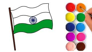 Indian Flag Coloring Page | How to Draw And Color Indian Flag | Learn Color | colorsMA