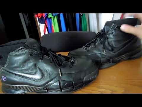 the latest 51c87 57607 2006 Kobe 1 Black Mamba Friends and Family Promo Sample review and closer  look YOUTUBES FIRST LOOK