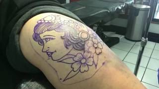 Gambar cover Tattoo Timelapse TRADITIONAL GYPSY GIRL TATTOO