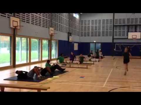 Yr11 GCSE PE fitness circuits S3 4