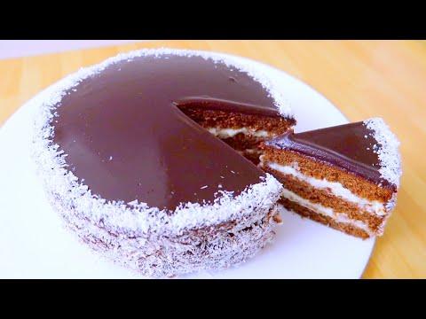 Любимый Торт Шоколадный с Кокосовым Кремом!