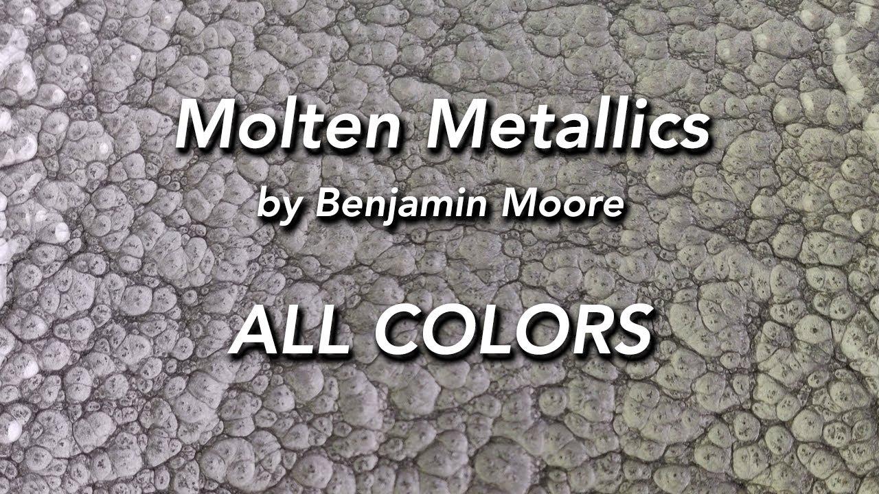 Benjamin Moore Molten Metallics All