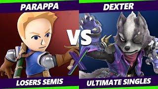 Smash Ultimate Tournament - Parappa (Mii Sword, Ryu) Vs. Dexter (Wolf, Lucina) S@X 285 SSBU LS