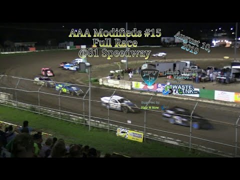 (AAA) Modifieds #69, Full Race, 81 Speedway, 08/10/19