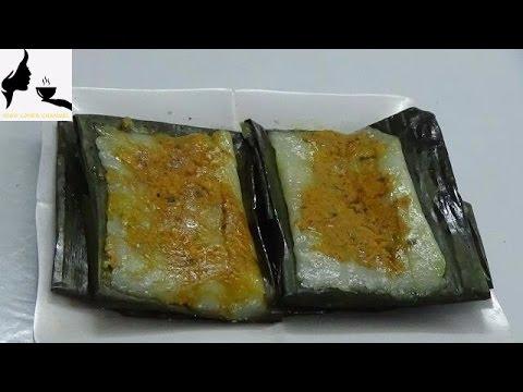 Vietnamese Rectangular Steamed Rice Dumpling Pork And Shrimp With Banana Leaves