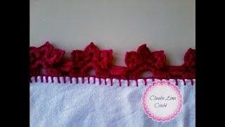 Bico de crochê para pano de prato ou toalha