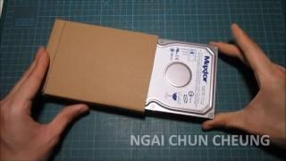 Cardboard Hard Drive Case