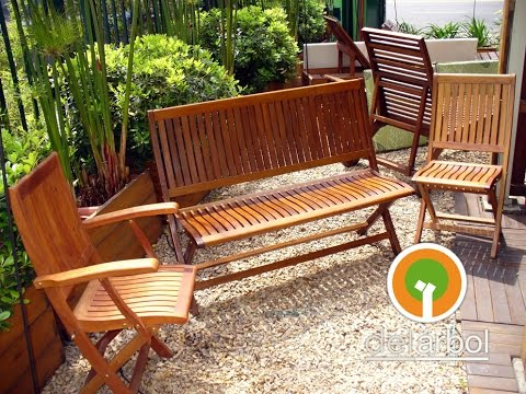 Sillas de madera para jard n y exterior del for Sillas colgantes para jardin