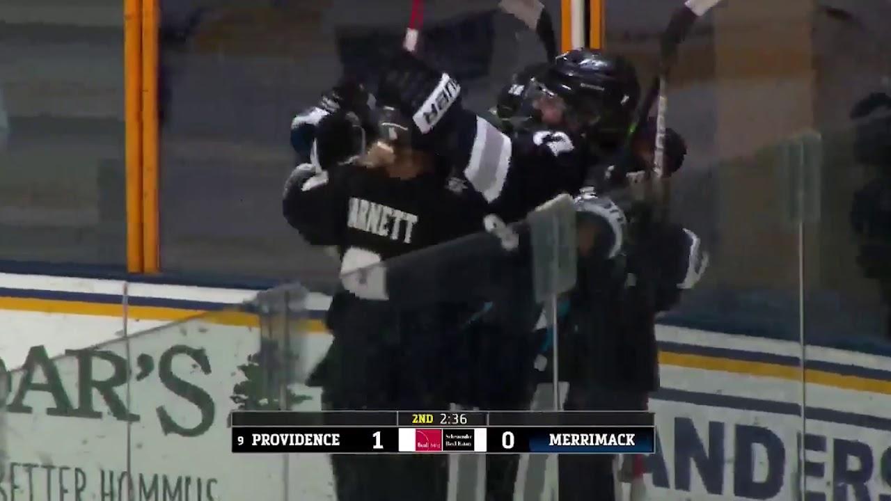 Merrimack College Women's Hockey Highlights vs Providence (1-15-21)