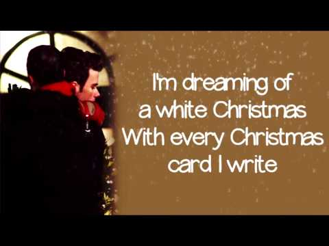 Glee - White Christmas (Lyrics)