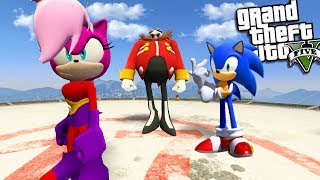 SONIC THE HEDGEHOG finds his REAL SISTER (GTA 5 Mods)
