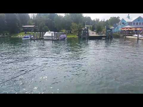 Ironton MI Cable Ferry Lake Charlevoix - Part 2