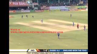 India vs England Live Streaming 5th ODI - 27th January 2013