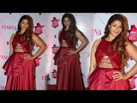 Tanisha Mukherjee in Red Dress at Nykaa thumbnail