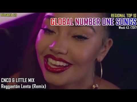 GLOBAL NUMBER ONE SONGS (week 43 / 2017)