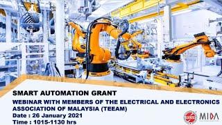Webinar on the Smart Automation Grant SAG, 26 Jan 2020