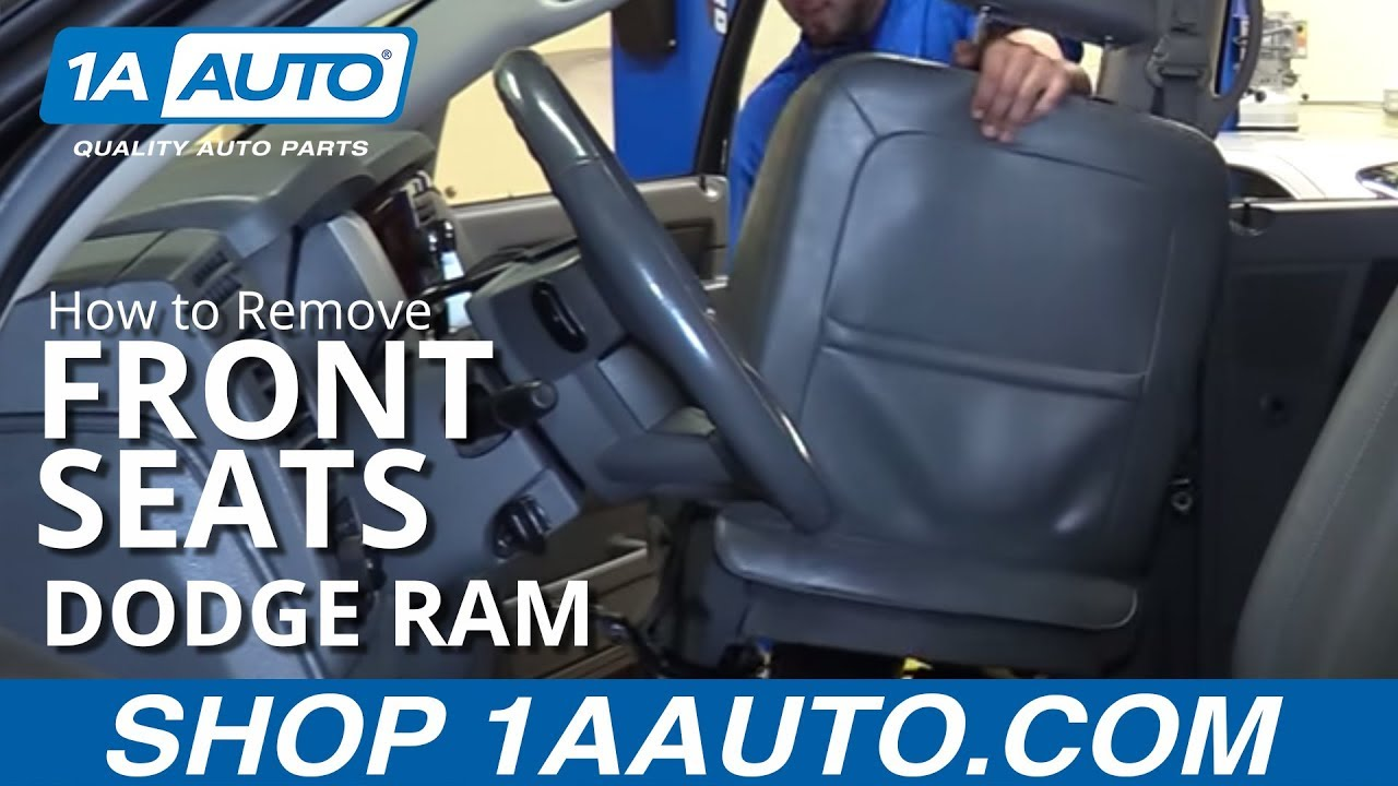 How To Remove Front Seats 02 08 Dodge Ram Youtube Wire Harness Connectors A1 2 3
