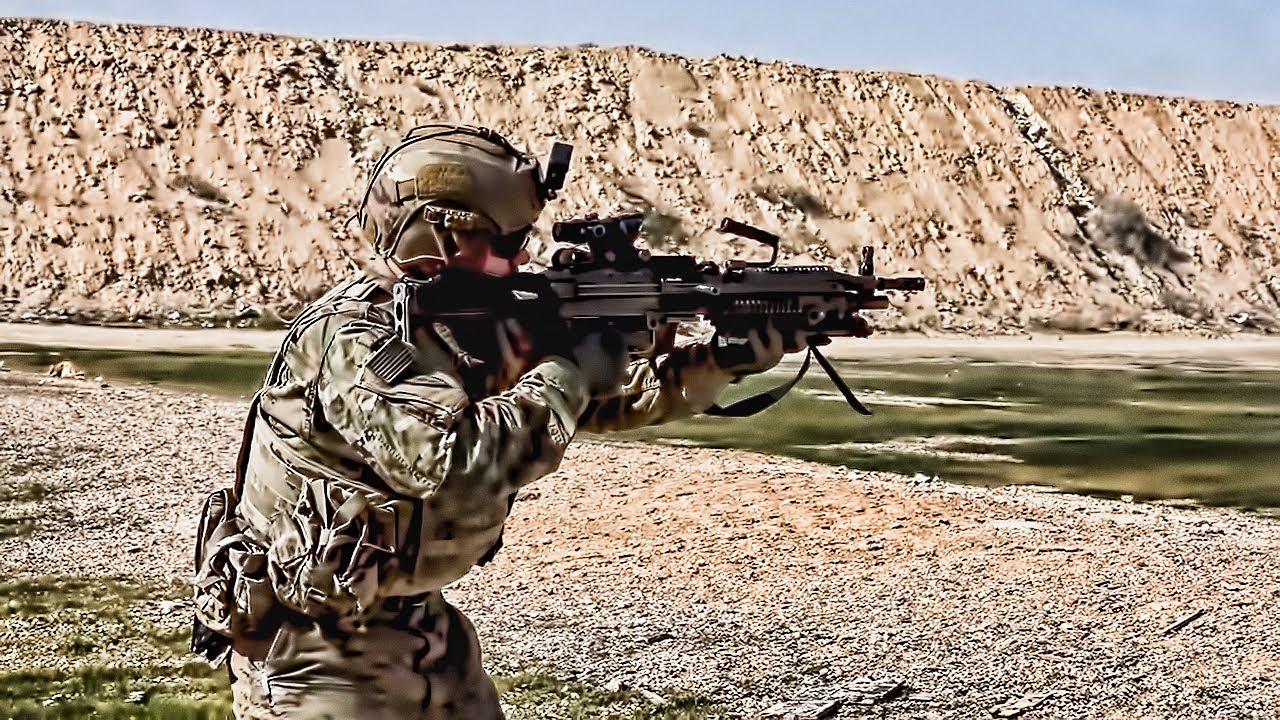 U.S. Soldiers Practice Live Fire Drills In Iraq (2020)