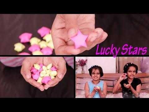origami star | DIY lucky star | how to make easy paper star | kids DIY || SaanveeKhushee
