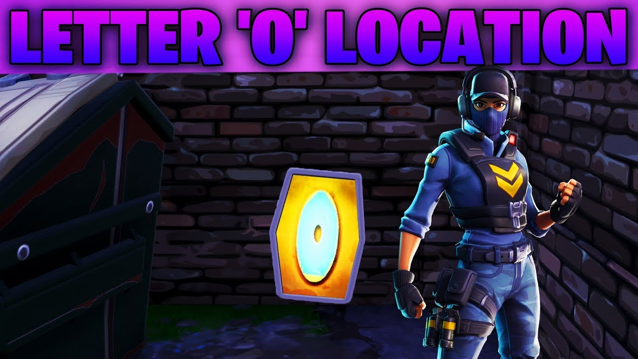 """Search The Letter 'O' West Of Pleasant Park"" Location"