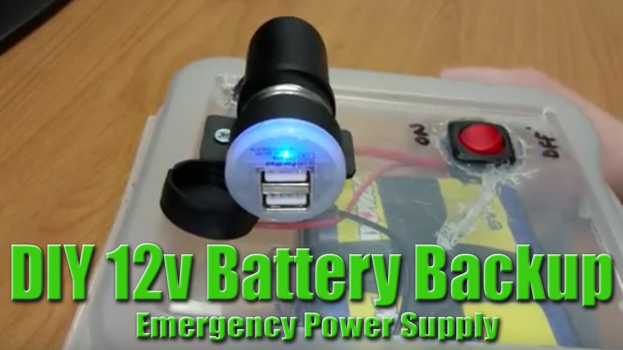 Diy battery backup emergency 12v power bank youtube sciox Image collections