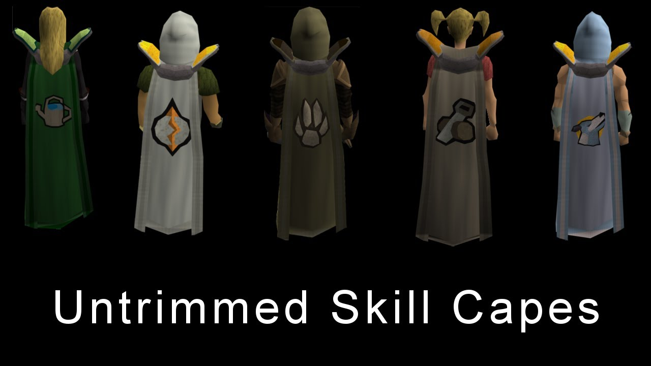 Skills untrimmed skill capes part 4 youtube for Runescape exp table 1 99