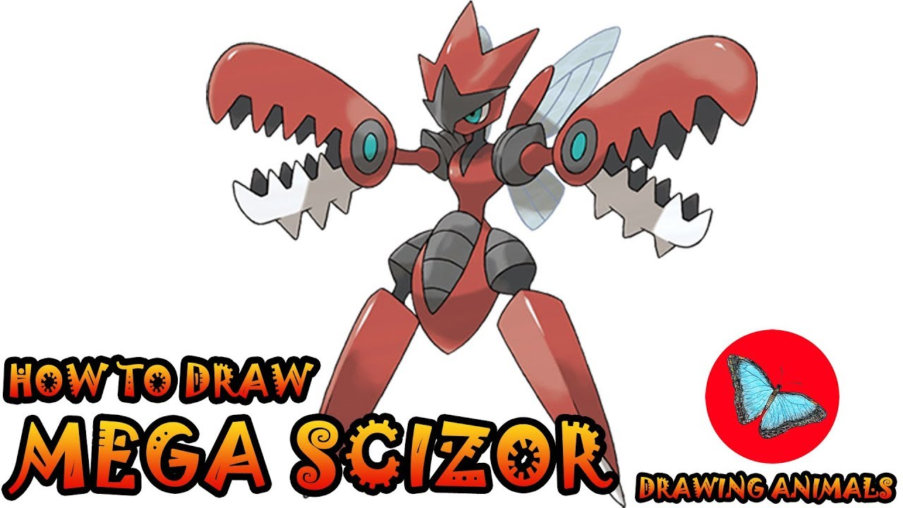 How To Draw Mega Scizor Pokemon | Drawing Animals