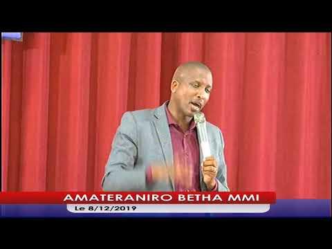 AMATERANIRO BETHA MMISERVICE 8DECEMBER2019