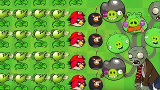 Angry Birds vs Zombies 5 - PEASHOOTER SHOOTING ANGRY BIRDS DEFEAT ZOMBIES